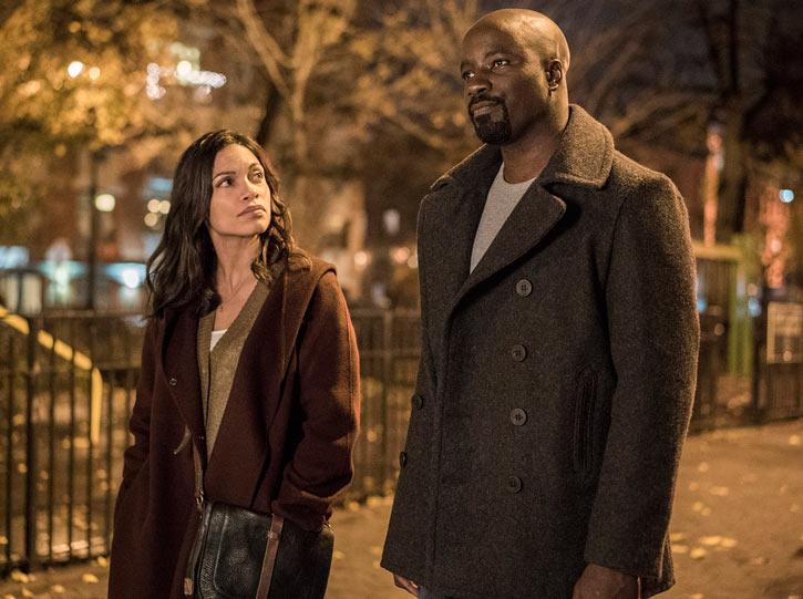Luke Cage (Netflix version) character profile - with Claire - Rosario Dawson
