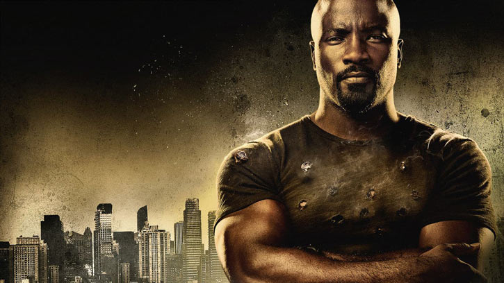 Luke Cage (Netflix version) character profile - skyline and bullet impacts