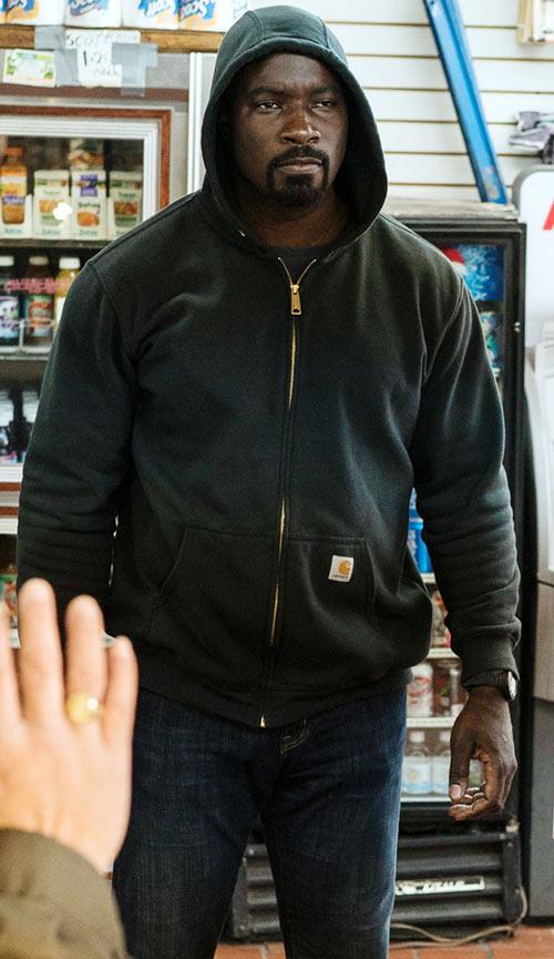 Luke Cage (Netflix version) character profile - black hoodie