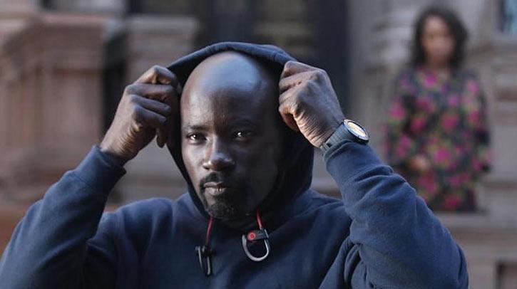 Luke Cage (Netflix version) character profile - raising hood, earbuds