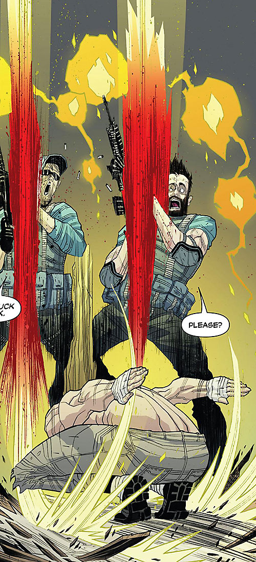 Luther Strode (Image Comics) kills two men with hand chops