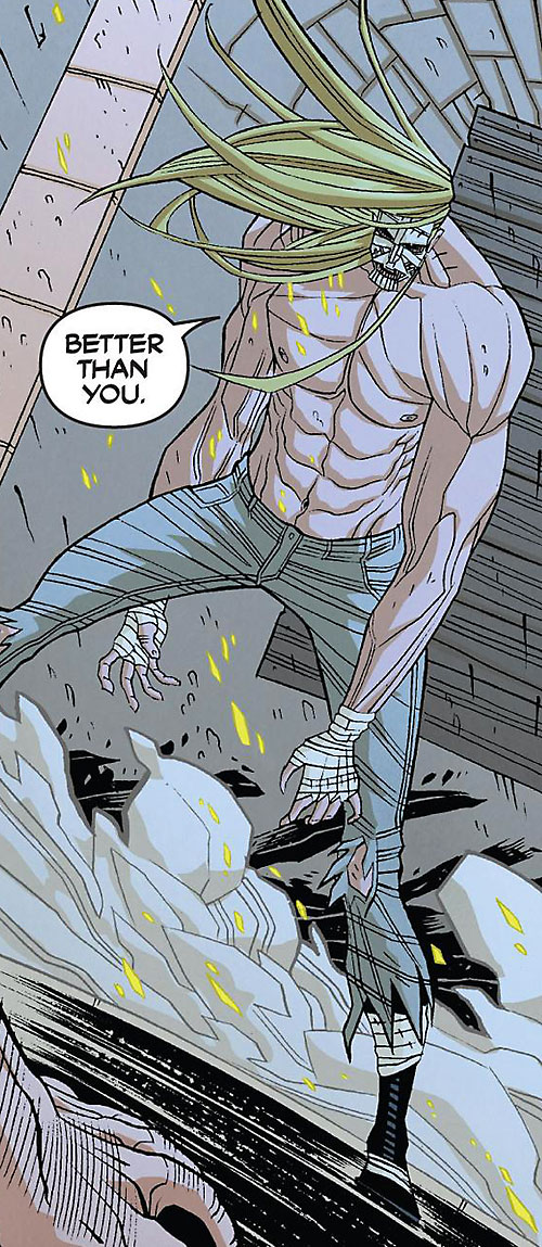 Luther Strode (Image Comics) bare-chested in gray jeans