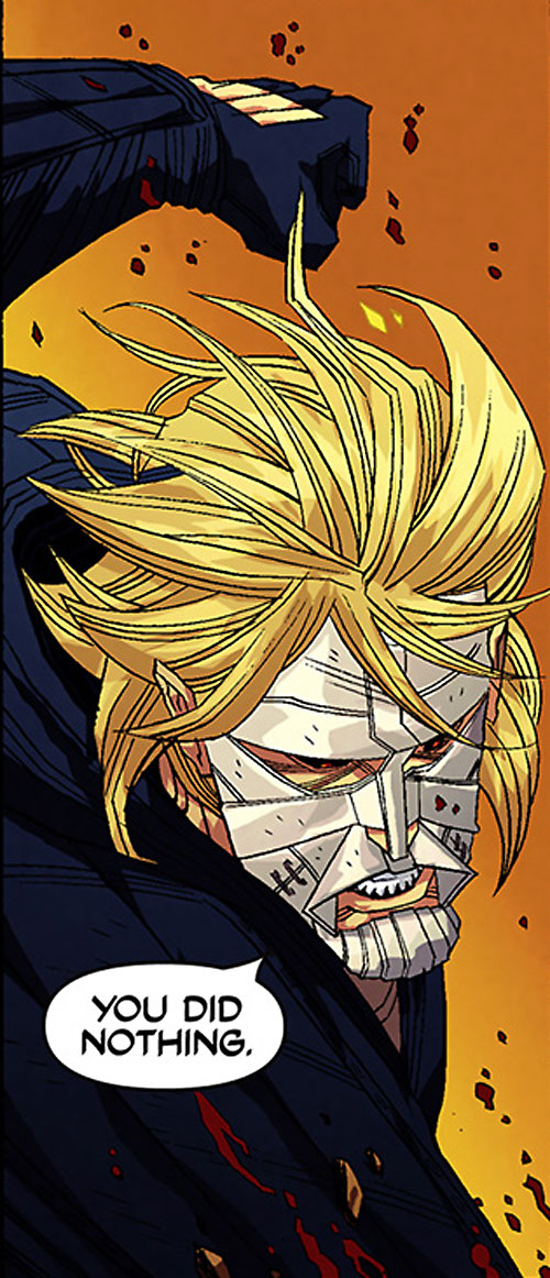 Luther Strode (Image Comics) face closeup in battle