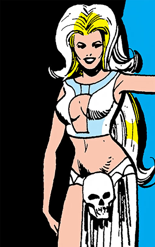 Ma Mayhem (Werewolf by Night enemy) (Marvel Comics) real appearance with crotch skull