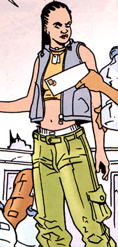 Mace Samuels (Cinnamon character) (DC Comics) in low-riding fatigues