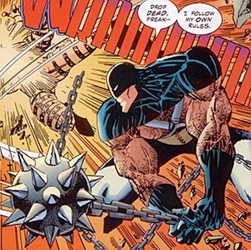 Mace (Savage Dragon comics) hits with his weapon