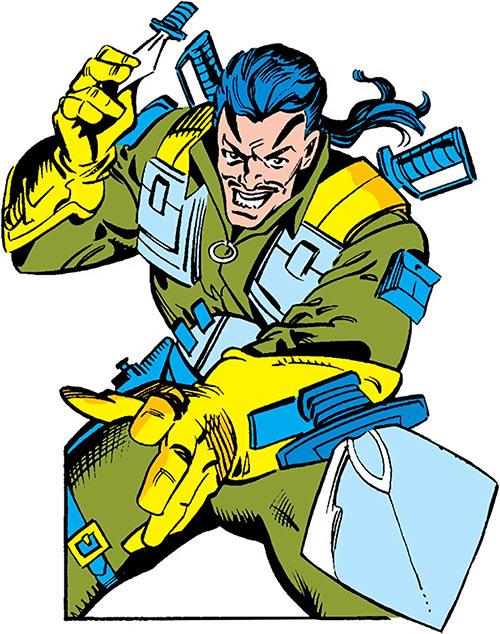 Machete (Marvel Comics) throws a knife