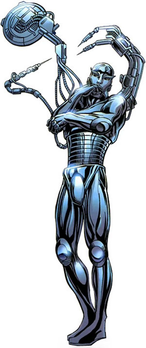 Machinesmith (Marvel Comics) in a metallic robot body