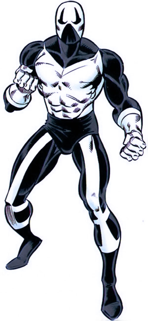 B&W version of the Looter's costume (Marvel Comics)