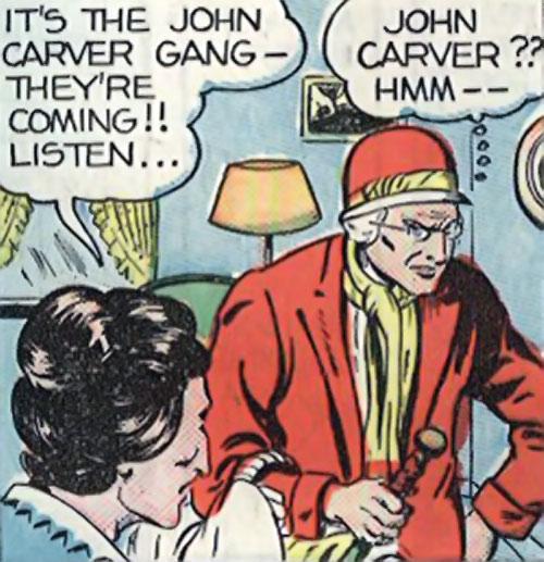 Madam Fatal (Quality Crack Comics) doing legwork