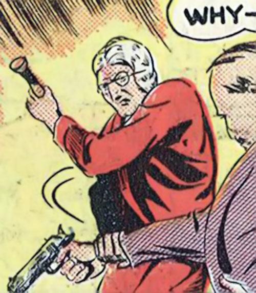 Madam Fatal (Quality Crack Comics) disarms a man