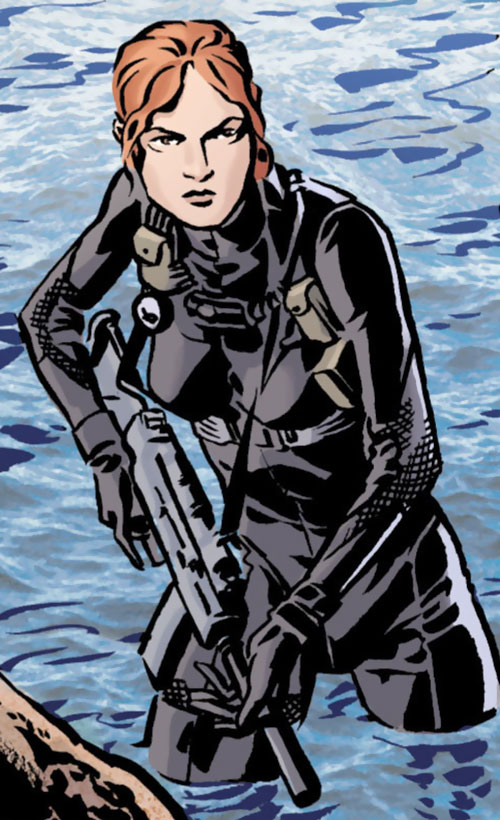 Mademoiselle Marie of Checkmate (Tautin) (DC Comics) in a combat diver suit
