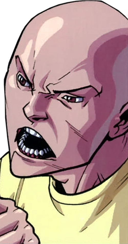 Magmaniac (Invincible enemy) (Image Comics) extinguished face closeup