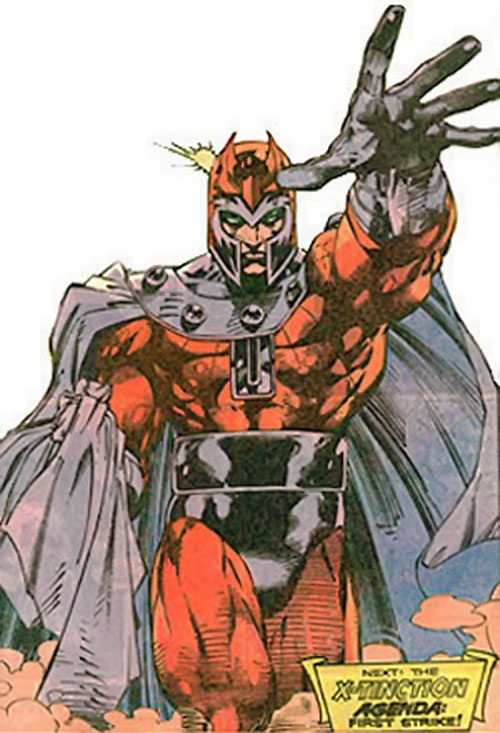 Magneto (Marvel Comics) in a Marvel pose by Jim Lee