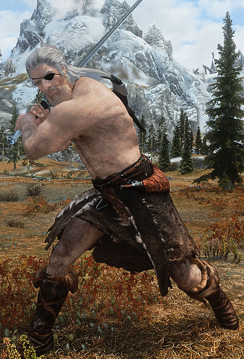 Magnir (D&D paladin) swinging a claymore