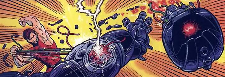 Magnus beheads a robot