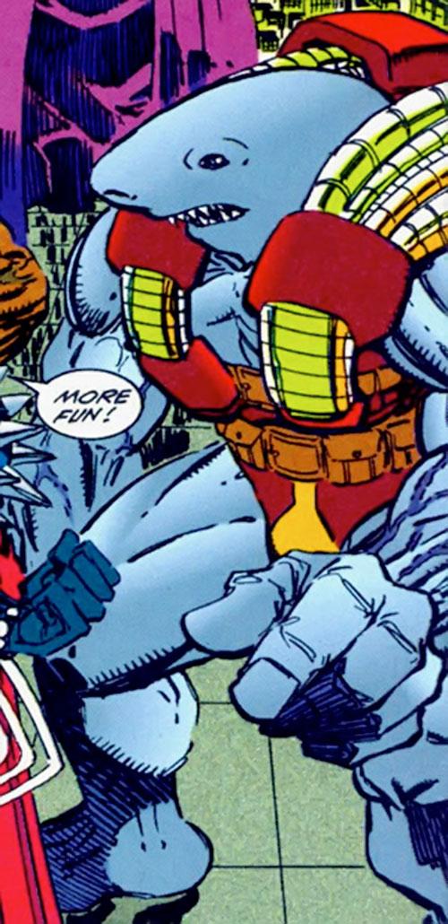 Mako (Savage Dragon comics) with red and gold armor
