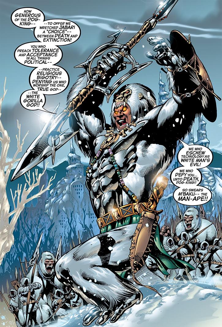 Man-Ape (M'Baku) and a White Gorilla army