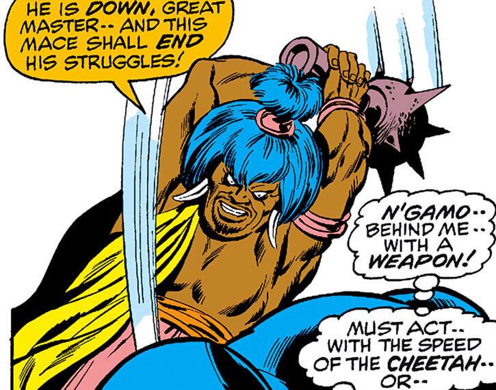 Man-Ape (M'Baku)'s aide N'Gamo