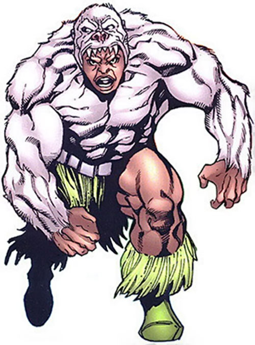Man-Ape (Marvel Comics) (Black Panther character) over a white background