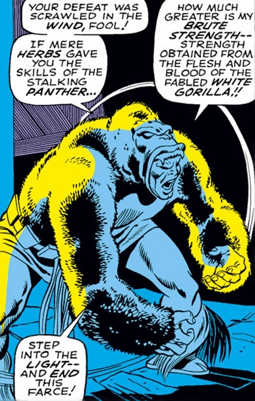 Man-Ape (Marvel Comics) (Black Panther character) stalks in the dark