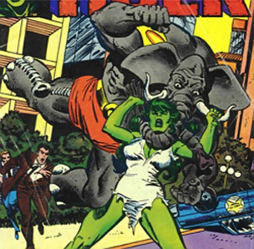 Man-Elephant (Marvel Comics) vs. She-Hulk