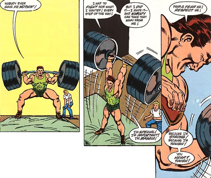 Man-Mountain Marko lifting weights