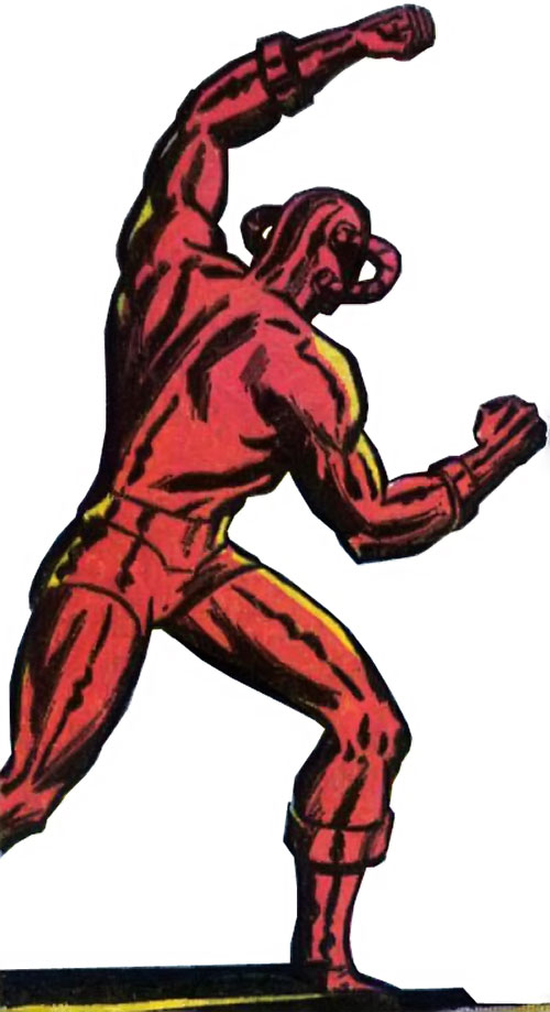 Man Slayer (Captain Mar-Vell enemy) (Marvel Comics) with fists raised, back view