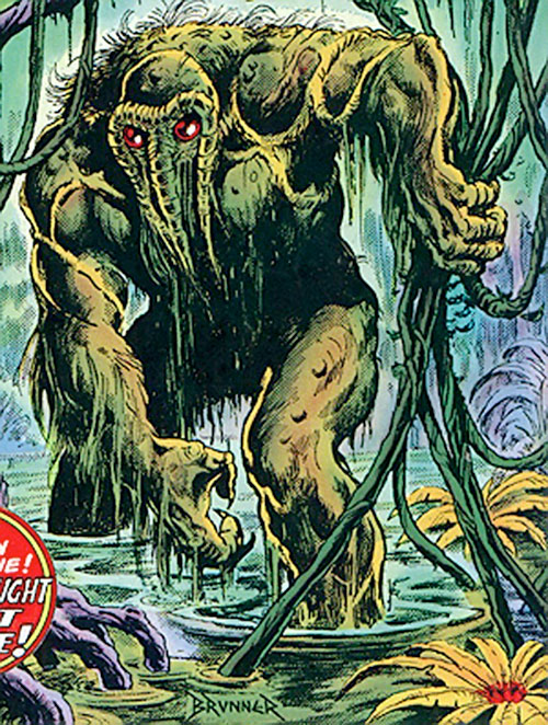 Man-Thing in the swamp by Brunner