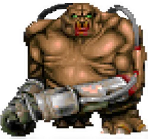 Mancubus (Doom video game) advancing