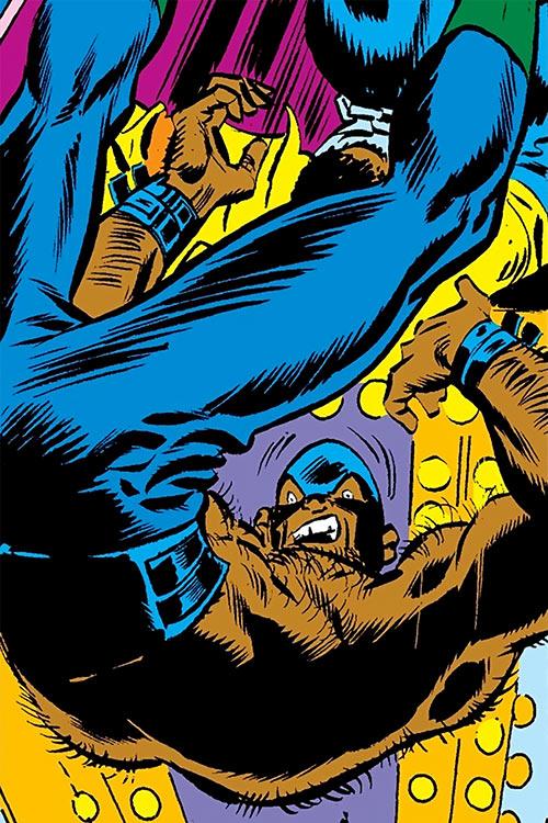 Mangler (Luke Cage enemy) (Marvel Comics) falling