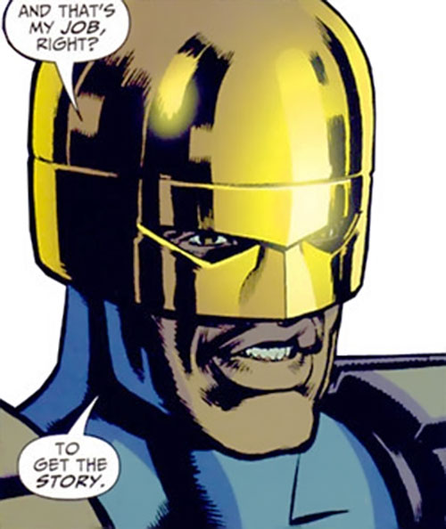 Manhattan Guardian of the 7 Soldiers (DC Comics) portrait with helmet