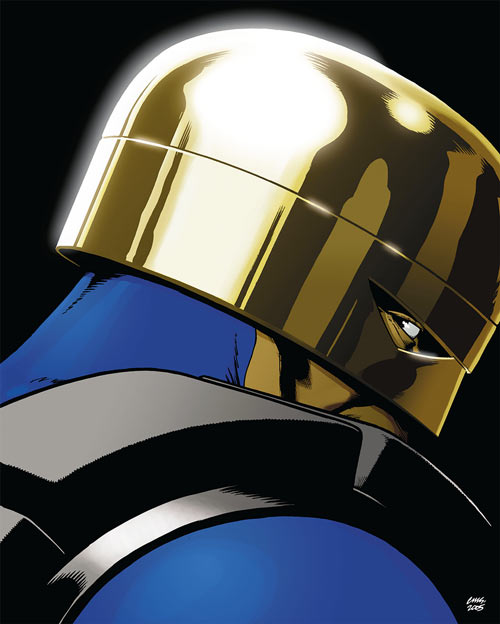 Manhattan Guardian gleaming helmet cover (DC Comics 7 soldiers)