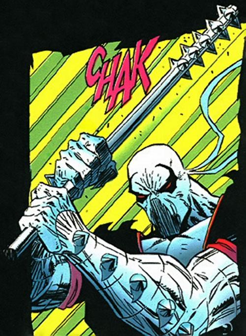 Manhunter (Chase Lawler) (DC Comics) deploying his club