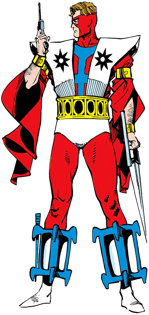 Manhunter (Paul Kirk) (DC Comics) (Red and white costume) from the Who's Who