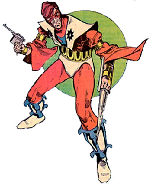 Manhunter (Paul Kirk) (DC Comics) (Red and white costume) with weapons out