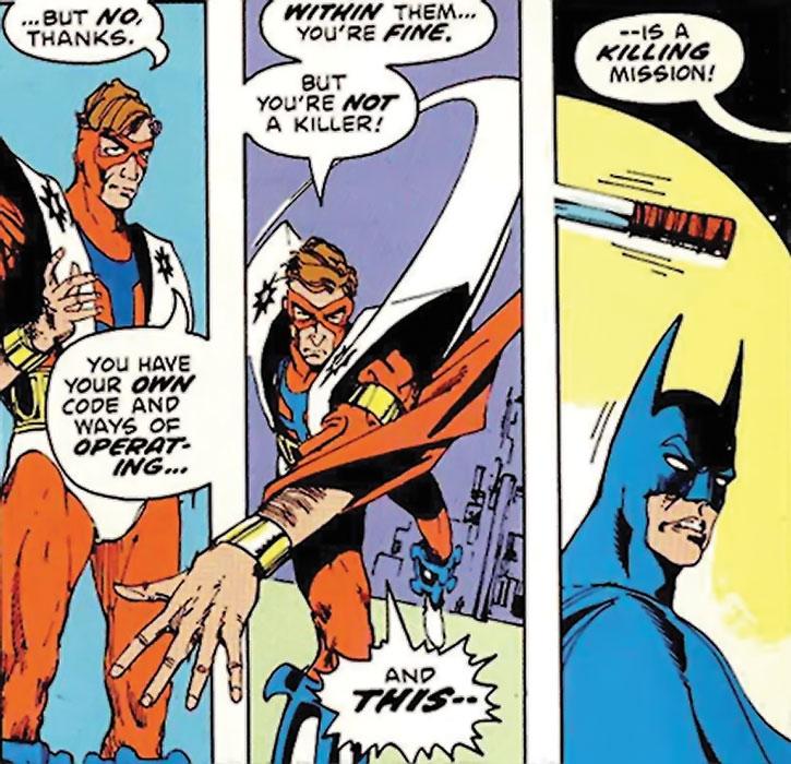 Manhunter (Paul Kirk) and Batman