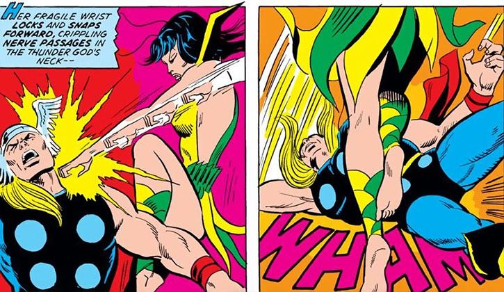 Mantis knocks Thor out
