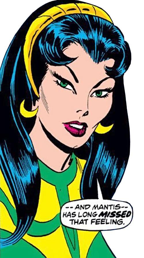 Mantis (Marvel Comics) (Avengers) face closeup