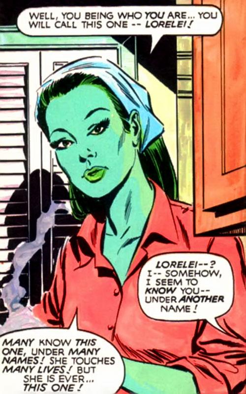 Mantis (Celestial Madonna) as Lorelei