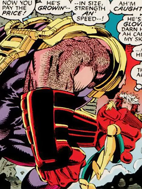 Delgado of the Acolytes of Magneto (X-Men enemy) (Marvel Comics) vs. Rogue