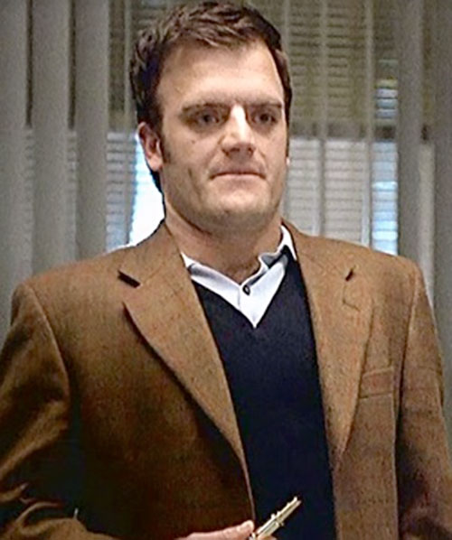 Marshall Flinkman (Kevin Weisman in Alias) with a brown vest