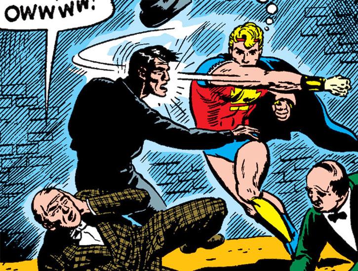 Marvel Boy (Timely Comics) back alley brawl
