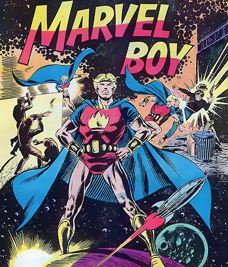 Marvel Boy (Bob Grayson) splash page