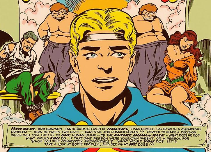 Marvel Boy (Bob Grayson) face closeup
