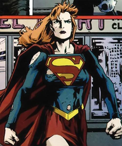 Caitlin Fairchild as Supergirl power walking