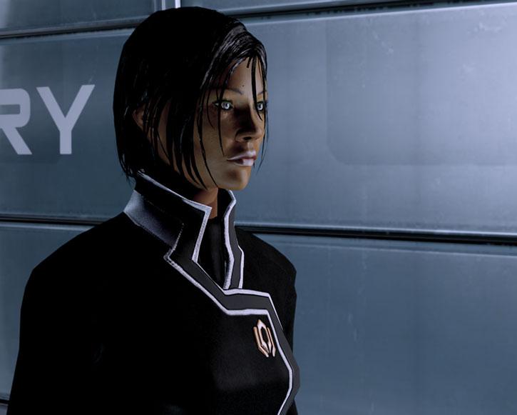 Commander Shepard face 3/4 view
