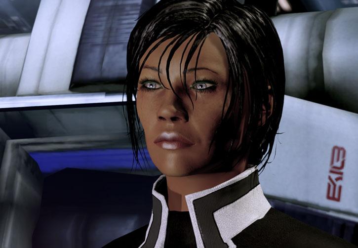 Commander Shepard ME2 face closeup