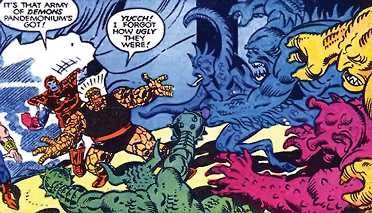 Master Pandemonium's demons vs. the West Coast Avengers