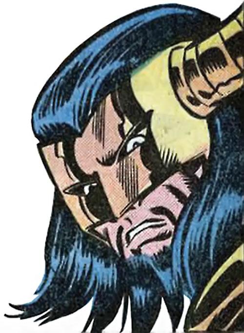 Master Pandemonium (Avengers enemy) (Marvel Comics) face and mask closeup